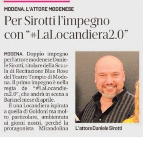 Gazzetta di Modena: Per Sirotti l'impegno con